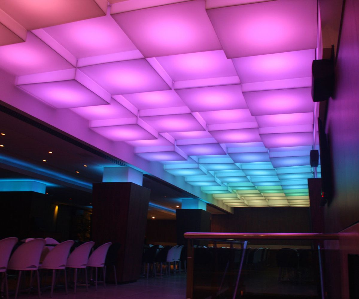 3D luminaires with LED RGB – Symbol Night club